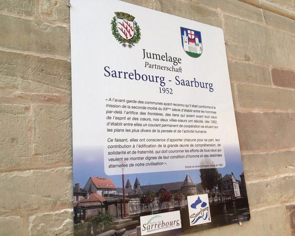 Jumelage Sarrebourg Saarburg