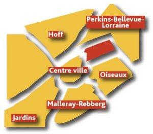 quartiers de Sarrebourg Moselle Sud