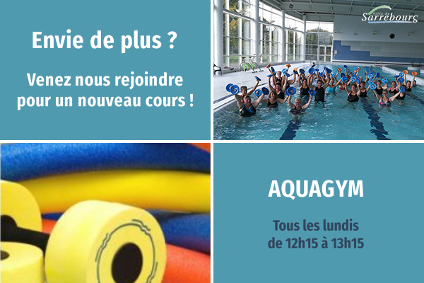 Aquagym centre aquatique Sarrebourg