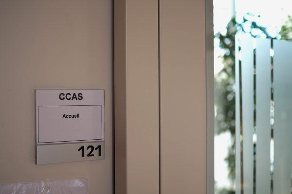 porte de l'accueil du CCAS