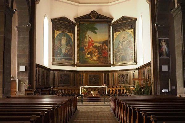 Intérieur de l'Eglise St Barthélémy de Sarrebourg
