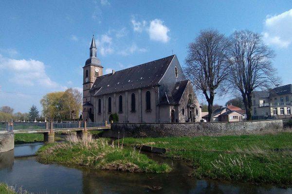 vue de l'Eglise St Martin Sarrebourg Hoff