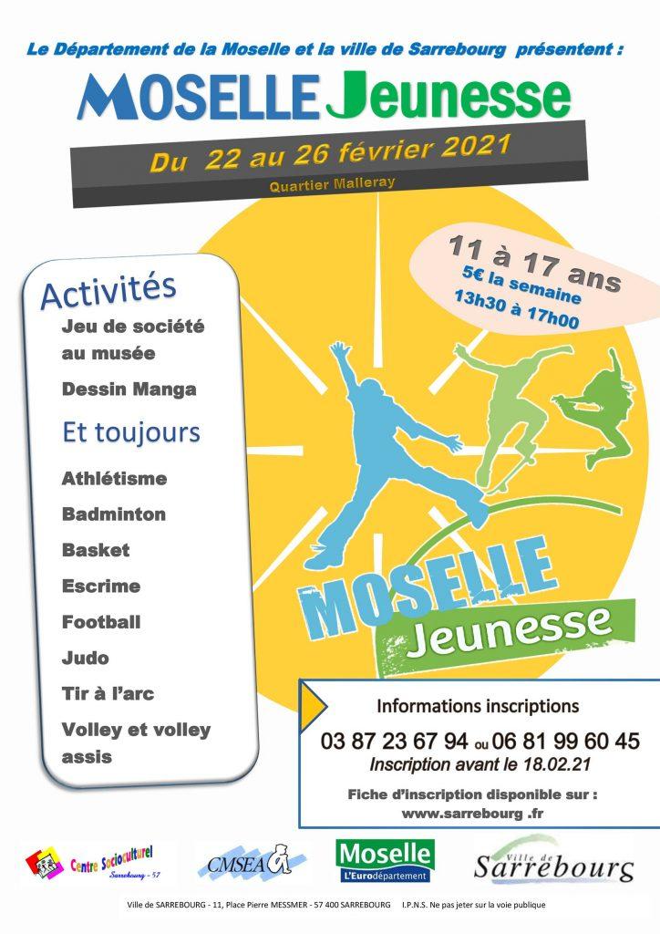 Affiche Moselle Jeunesse février 2021 Sarrebourg